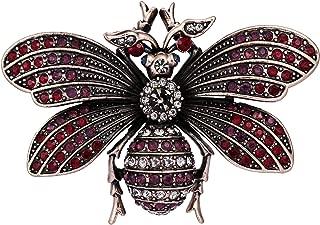 BriLove Women's Vintage Inspired Crystal Bee Brooch Pin