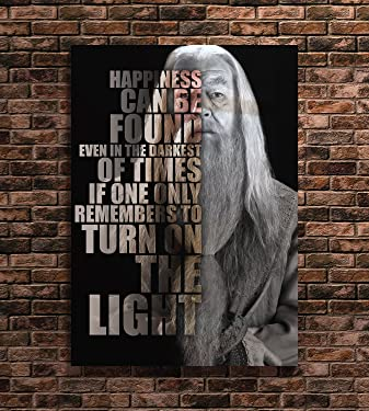 Dumbledore Harry Potter Poster Quotes Wall Art Print (A3 12x17 inches)