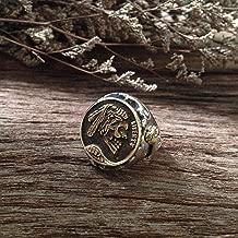 Hobo nickel brave Mexican ring Biker silver Skull Vintage brass handmade men horse
