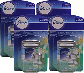 Febreze Set and Refresh Sleep Serenity Air Freshener for Bedside Diffuser, Quiet Jasmine, .36 Ounce, 2 Count (Pack of 4)