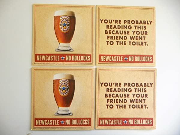 Newcastle Brown Ale Blue Star No Bollocks Coaster 4 Pack