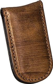 Fermasoldi magnetico uomo in Vera Pelle – Etabeta Artigiano Toscano – Made in Italy (marrone tamponato a mano)