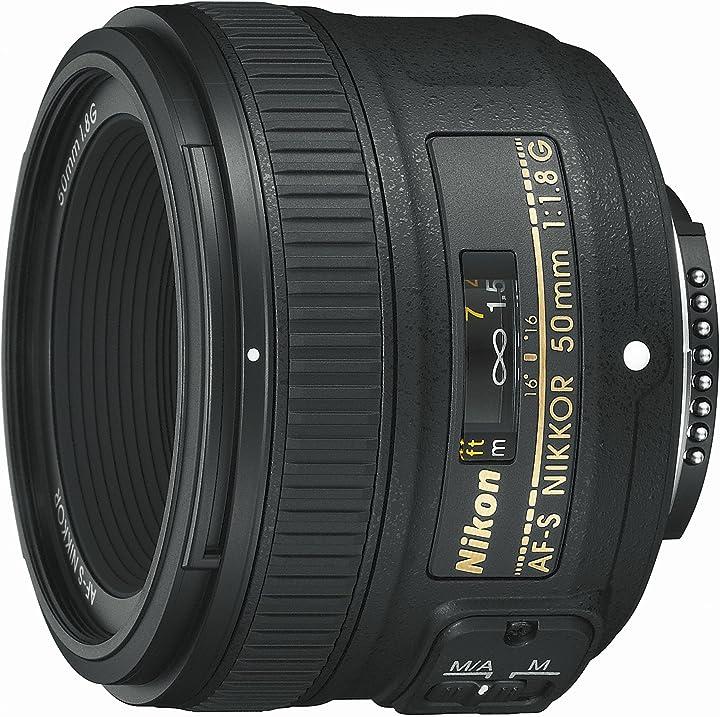 Obiettivo nikon nikkor af-s 50 mm f/1.8g, nero [nital card: 4 anni di garanzia] 311065
