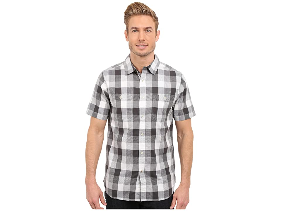 The North Face Short Sleeve Shadow Gingham Shirt (Asphalt Grey Plaid (Prior Season)) Men