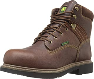 John Deere Men's 6 Brn Waterproof Steel Toe EH Farm/Wrk Work Boot
