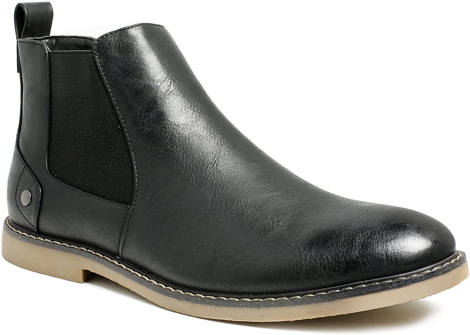 PARTY Mens Chelsea Boots Formal Dress Elastic Casual Ankle Boots for Men Black 11