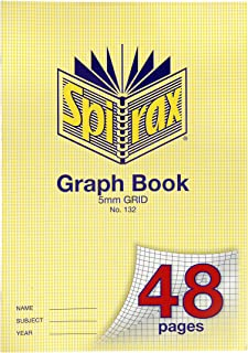 Spirax 132 A4 Graph Book with 5MM Grid (48 Pages)