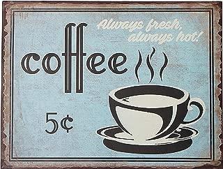 Barnyard Designs 5 Cent Coffee Retro Vintage Tin Bar Sign Country Home Decor 10