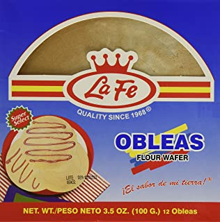 La Fe Obleas Flour Wafers 12 Pack