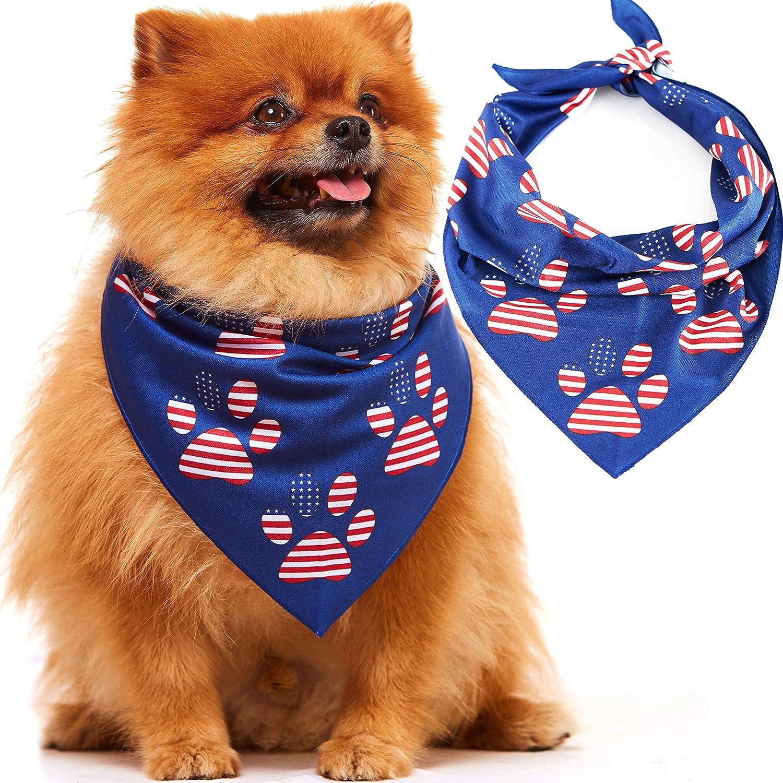Odi Style OFFer American Flag Dog Bandana 4th July - of Patriotic Genuine