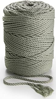 MB CORDAS Macrame Rope 4mm Soft Cotton Cord 492 feet Thick Macrame String for Plant Hangers, Wall Art Sage Geen