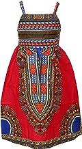 Girl's African Print Dress,Toddler Baby Girl Halter Off-Shoulder Party Dress Special Occasion Dress