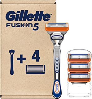 Gillette Fusion5 دست و پنجه نرم مردان + 4 سطل پرتاب