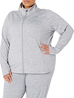 Amazon Essentials Plus Size Brushed Tech Stretch Full-Zip Jacket Pullover-Sweaters Donna