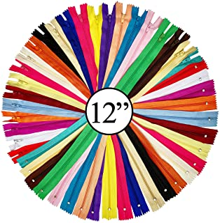 comprar comparacion KGS - Cremallera de nailon de 12 pulgadas para manualidades de costura, 20 colores únicos | 20 cremalleras por paquete