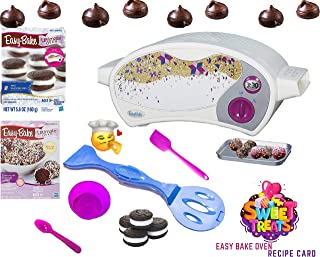 Easy Bake Ultimate Oven Baking Star Edition + 2 Oven Refill Mixes + 2 Sweet Treats Tasty Oven Recipes + Mixing Bowl, Spoon AND EXTRA BAKING ACCESSORIES (7 Total Items) (purple)