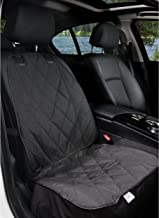 BarksBar Pet Front Seat Cover for Cars - Black, Waterproof & Nonslip Backing with Anchors, Quilted, Padded, Durable Pet Se...
