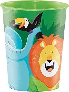 Creative Converting Jungle Safari Plastic Cup, 16 oz Capacity