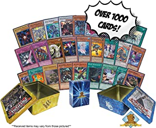 1000+ Yugioh Cards - Featuring Holos - Comes with Empty 2 Tins for Storage! Includes Golden Groundhog Deck Box!