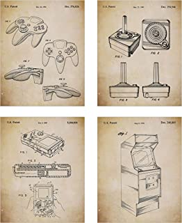 382c3727f0a4 Game Room Décor – Original Classic Video Games Patent Art Prints - Set of  Four Video