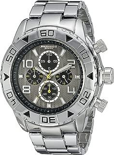 Akribos XXIV Men's Gray Dial Stainless Steel Band Watch - AK814SSB