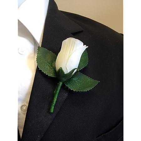 Rosebud Spilla Uomo Boutonniere Sposo Risvolto Pin Fermacravatta Tuxedo Nozze
