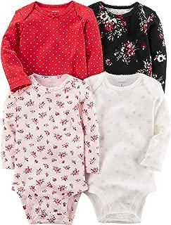 Carter's Unisex Kid's Multi-Pk Bodysuits 126g458, Girl Holiday, 18M