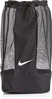 Nike Club Team Swoosh Soccer Ball Bag - Black/Black/White, 86 x 47 x 47 cm, 164 l