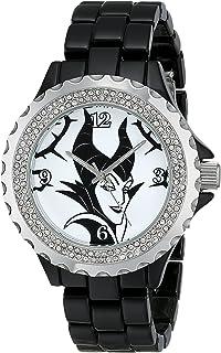 Disney Women's W001796 Maleficent Watch Analog Display, Analog Quartz, Black Watch