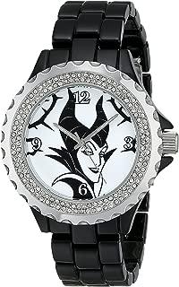Women's Disney Maleficent Enamel Spark Watch - Black