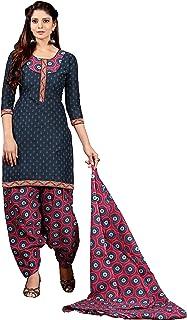 9440bceae9 Minu salwar Cotton Printed Suit sets Slate Black(Patyalahouse10_10005)
