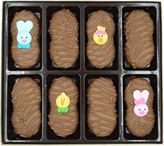 Philadelphia Candies Milk Chocolate Covered Nutter Butter Cookies, Easter Faces Assortment Net Wt 8 oz
