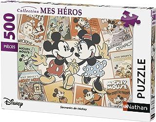 Nathan- Disney Puzzle Souvenirs de Mickey 500 pièces, 87217