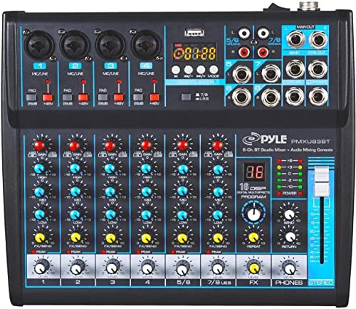 Professional Audio Mixer Sound Board Console Desk System Interface 8 Channel Digital USB Bluetooth MP3 Computer Input...
