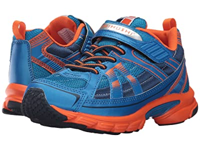 Tsukihoshi Kids Storm (Little Kid/Big Kid) (Blue/Orange) Boys Shoes