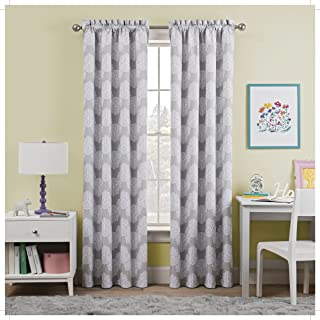 """WAVERLY Kids Room Darkening Curtains for Bedroom - Airwaves 42"""" x 63"""" Thermal Insulated Single Panel Rod Pocket Light Bloc..."""