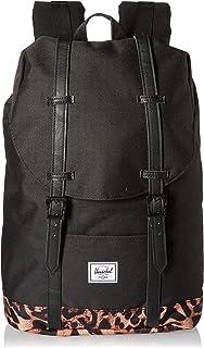 Herschel Retreat Backpack, Black/Desert Cheetah, Mid-Volume 14.0L, Retreat Backpack