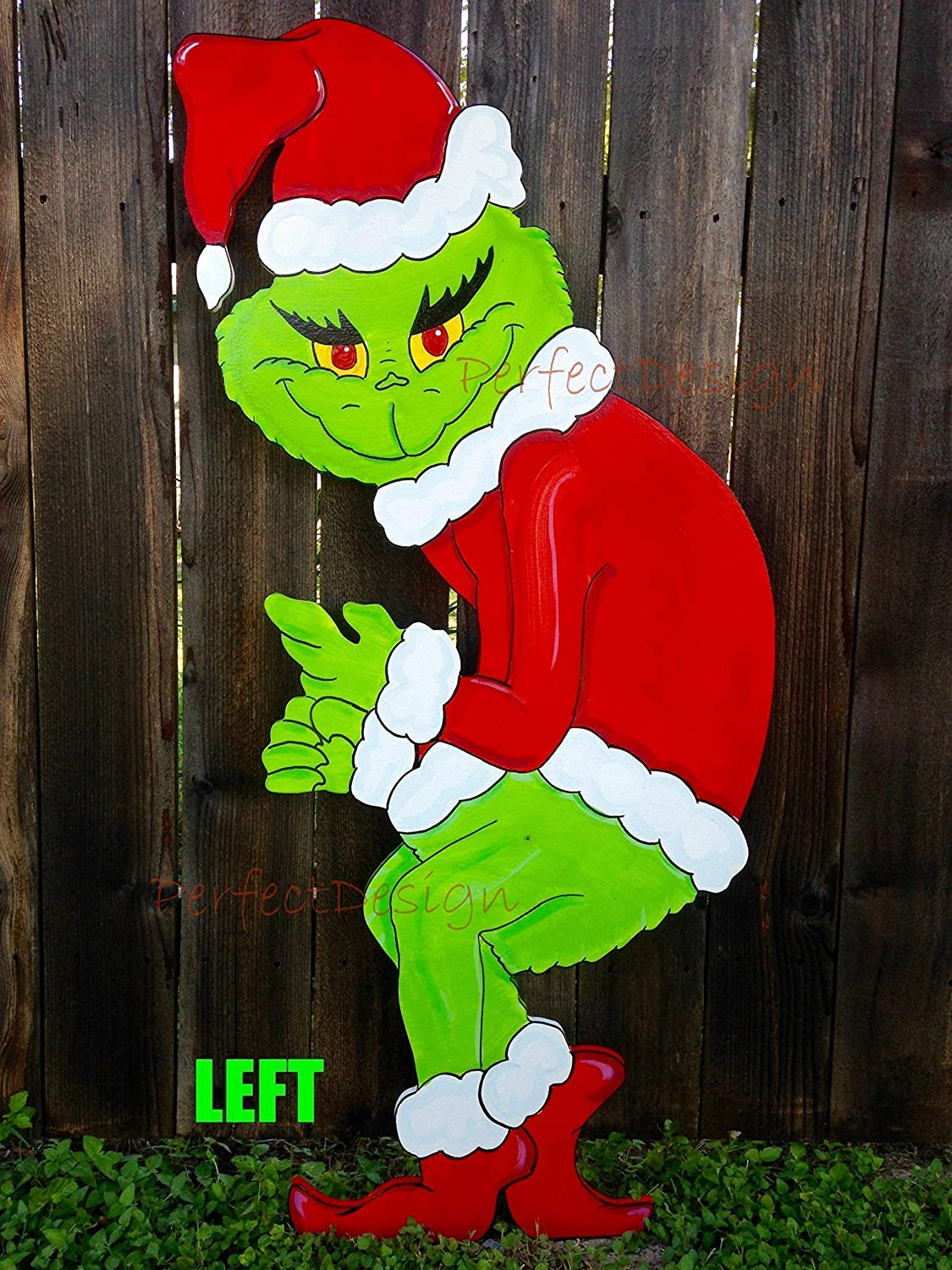 Great interest Large special price !! Grinch Stealing the Christmas Lights Wooden De Yard Handmade Art