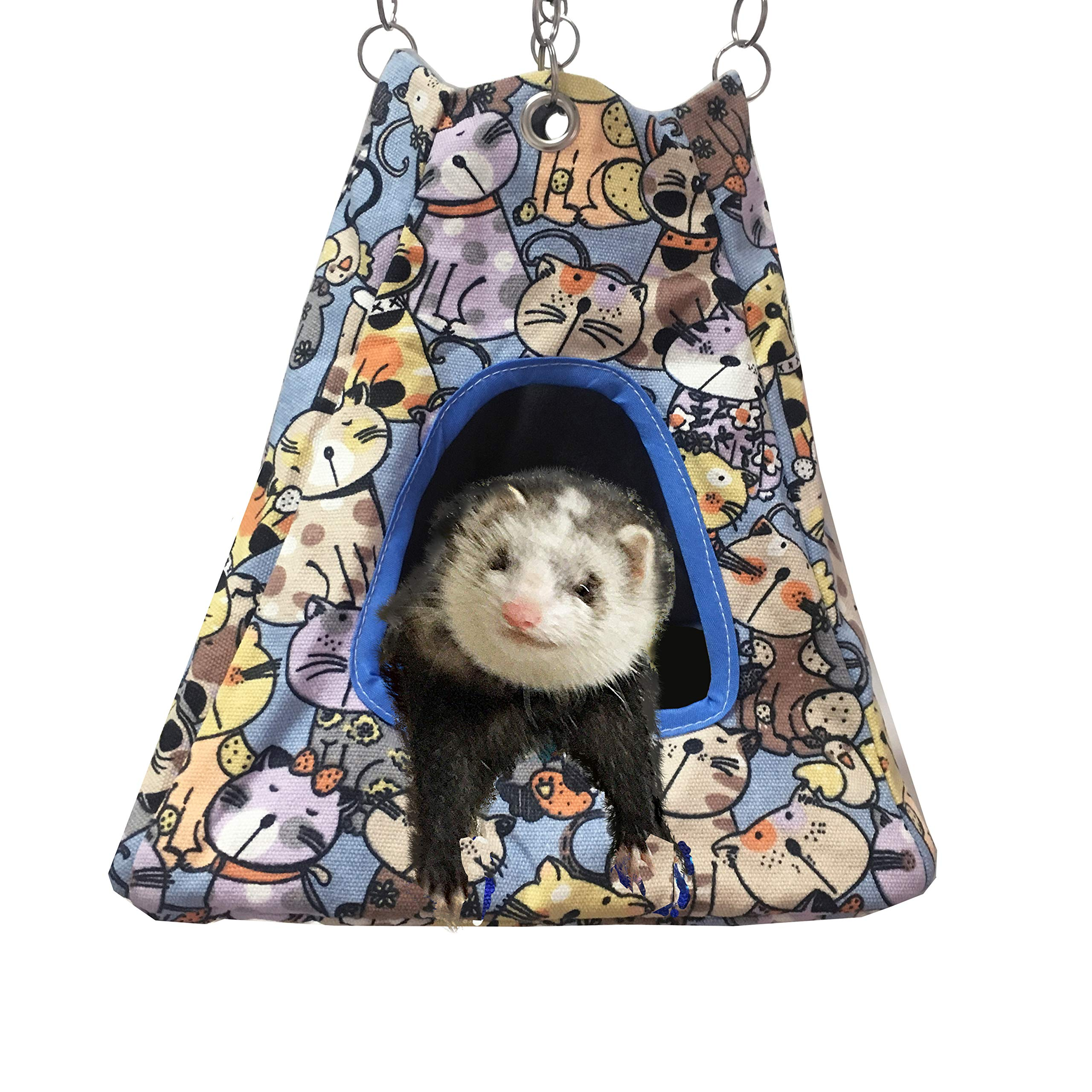 Blue Warm Hanging Bed for Ferret//Squirrels//Chinchillas//Hamster//Other Small Animals MQUPIN Double Layer Pet Hammock Bed