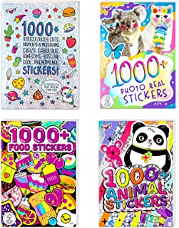 Fashion Angels Over 4000 Stickers-4 Book Set, Sticker Book for Kids Ages 6 and up, Colorful and Cute Animal, Food, Photo R...
