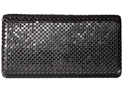 Jessica McClintock East/West Metal Mesh Roll Bag (Black) Cross Body Handbags