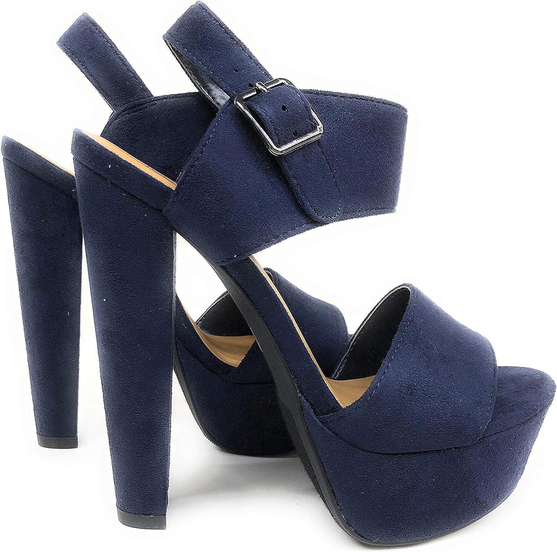 Speed Limit 98 Women's Key Open Toe Ankle Strap Platform Chunky Block Heel Sandal