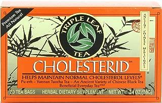 Triple Leaf Tea, Cholesterid, 20 Tea Bags (Pack of 6)