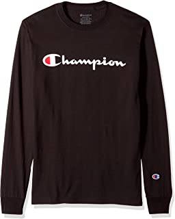 Champion Men's Classic Jersey Long Sleeve Script T-Shirt