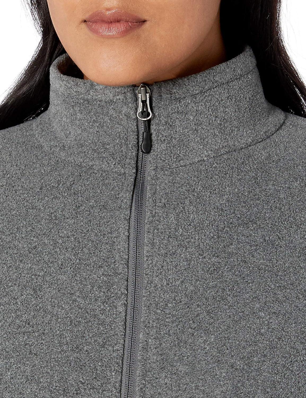 Essentials Womens Plus Size Full-Zip Polar Fleece Jacket