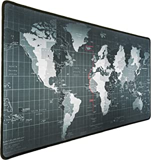 WORLD Mouse Pad Extended Large, Gaming Mouse Pad, Desk Accessories For Men, Computer Keyboard, Pc And Laptop, World Map, L...