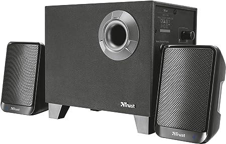 Trust Evon - Juego de Altavoces inalámbricos 2.1 de 30W con Bluetooth, Negro