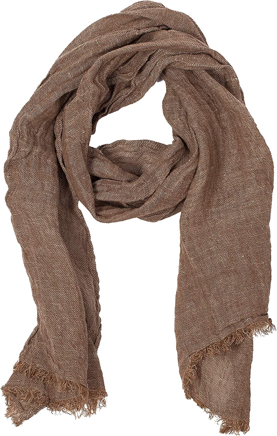 100% Linen Scarf   Brown Scarf   Scarves For Women   Mens Scarf   Linen