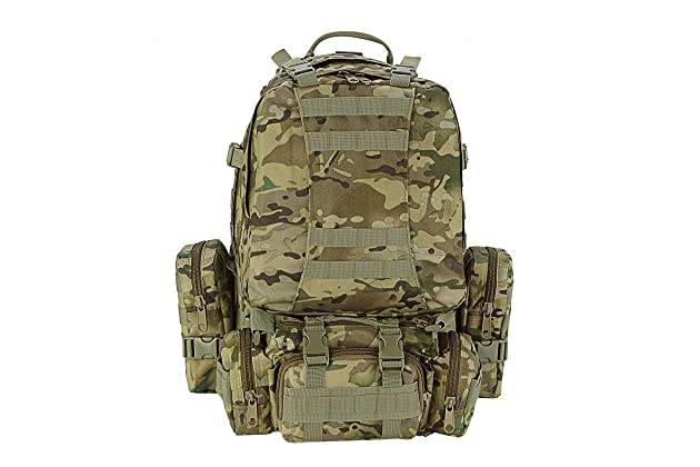 a6e620439a CVLIFE Outdoor 60L Built-up Military Tactical Backpack Army Rucksacks 3 Day  Assault Pack Combat Molle Backpack Pouch for Hunting Trekking Camping  Surplus ...