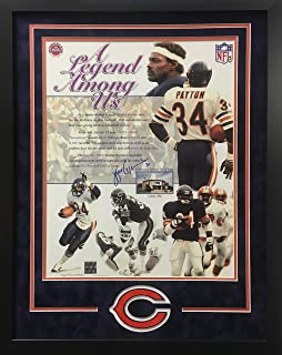Walter Payton Chicago Bears Signed Autograph Custom Framed Photo Suede Matting 23x29 Photograph W Payton Foundation Certified